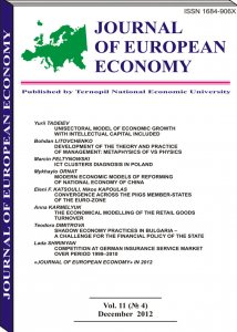 Journal of European Economy Vol. 11 (No.4) December 2012
