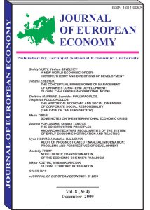 Journal of European Economy Volume 8, Issue 4, December 2009, Pages 339-457