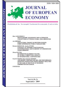 Journal of European Economy Volume 8, Issue 3, September 2009, Pages 233-331