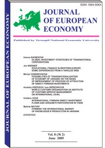 Journal of European Economy Volume 8, Issue 2, June 2009, Pages 117-225
