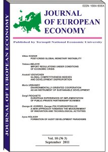 Journal of European Economy Volume 10, Issue 3, September 2011, Pages 235-346