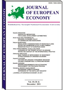 Journal of European Economy Volume 10, Issue 4, December 2011, Pages 460-464