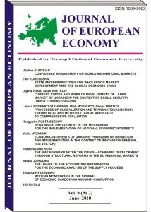 Journal of European Economy Volume 9, Issue 2, June 2010, Pages 131-244