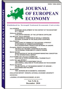 Journal of European Economy Volume 9, Issue 4, December 2010, Pages 387-533