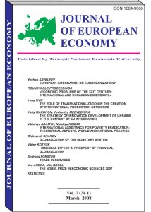Journal of European Economy Volume 7, Issue 1, March 2008, Pages 1-133