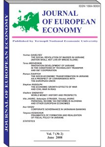 Journal of European Economy Volume 7, Issue 2, June 2008, Pages 141-246