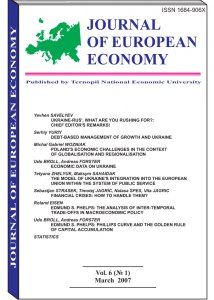 Journal of European Economy Volume 6, Issue 1, March 2007, Pages 1-106
