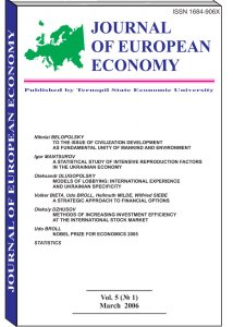 Journal of European Economy Volume 5, Issue 1, March 2006, Pages 1-96