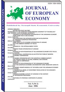 Journal of European Economy Volume 5, Issue 2, June 2006, Pages 99-200