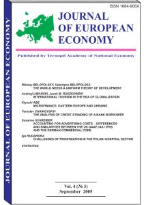 Journal of European Economy Volume 4, Issue 3, September 2005, Pages 265-378