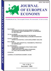 Journal of European Economy Volume 4, Issue 4, December 2005, Pages 379-500