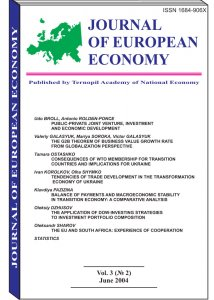 Journal of European Economy Volume 3, Issue 2, June 2004, Pages 125-236