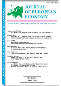 Journal of European Economy Volume 2, Issue 2, June 2003, Pages 145-278