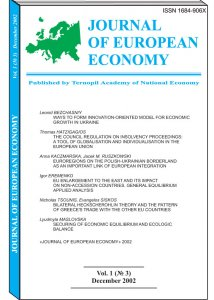 Journal of European Economy Volume 1, Issue 3, December 2002, Pages 239-328