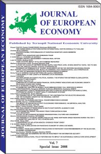Journal of European Economy Vol. 7. Special issue. 2008