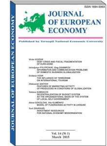 Journal of European Economy Vol. 14, Number 1, March 2015, pp 3-101