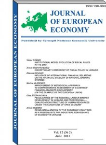 VJournal of European Economy Vol. 12, Number 3, September 2013, pp 245-399