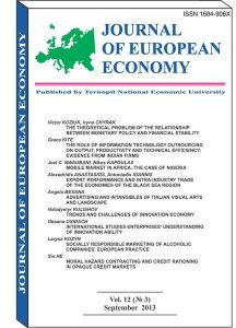 Journal of European Economy Vol. 12, Number 3, September 2013, pp 245-399
