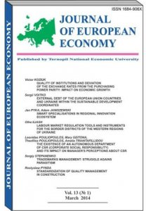 Journal of European Economy Vol. 13, Number 1, March 2014, pp 3-105
